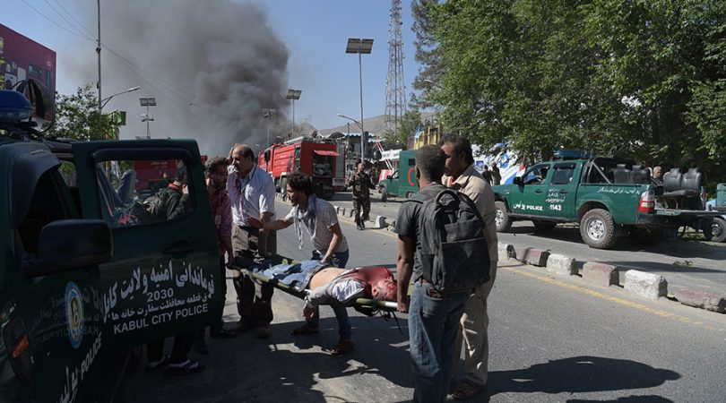 Explosion in diplomatic area of Kabul kills, wounds dozens